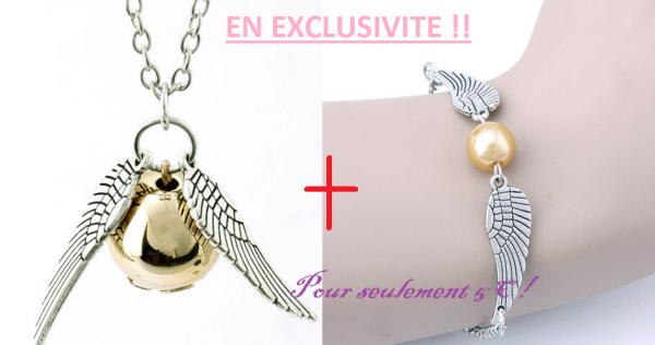 Bien, je vous Présente mon premier bijoux, et non des moindre, Un lot bracelet + collier pour seulement 5¤ C'est un bijoux léger, qui se porte facillement avec d'autre bijoux type Bohème !