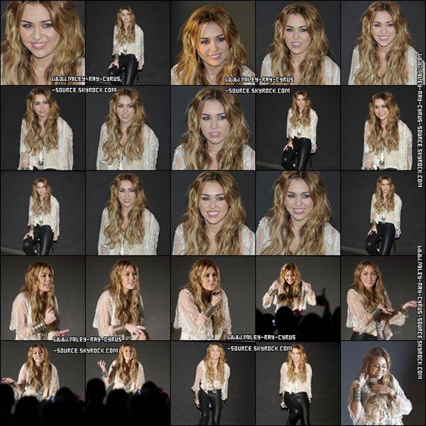 05 / 11 / 2010 : Miley rencontrant ses fans, à Madrid.