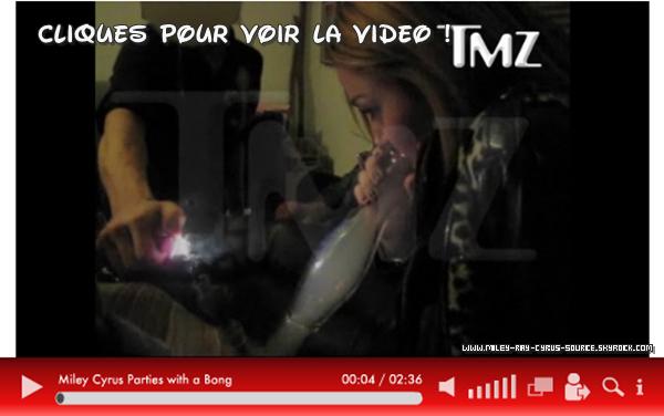 Peu après ses 18 ans, Miley a été filmée fumant une substance hallucinogène !