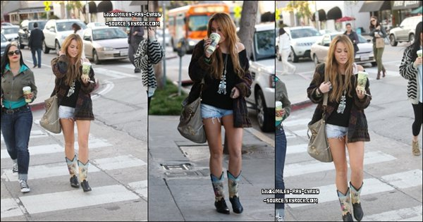 31/12/2010 : Miley a été photographiée à Los Angeles.