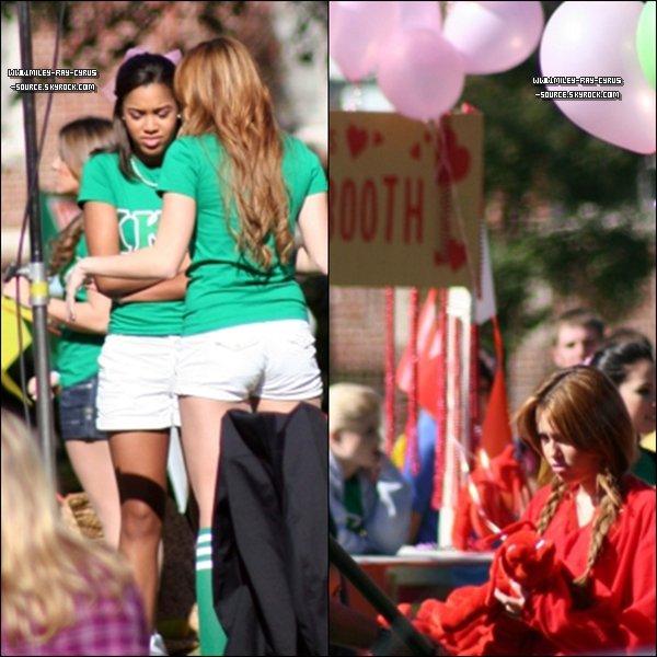 08/01/2011 : Miley sur le tournage de So Undercover