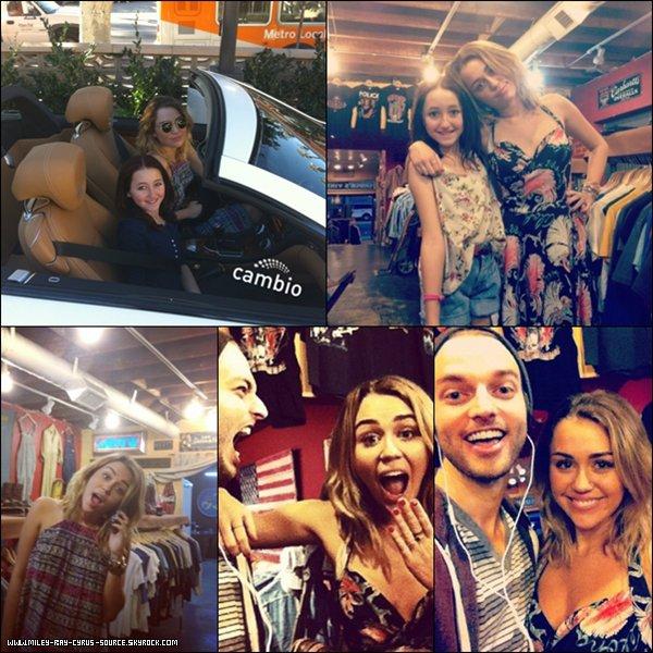 27.01.2012 : Miley s'est rendue dans la boutique Chucks Vintage, avec sa soeur Noah, à Los Angeles.