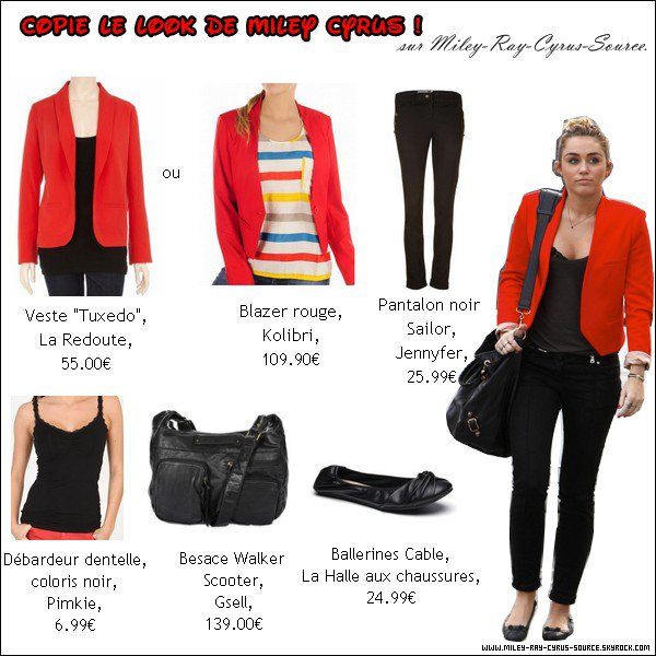 Copie le look de Miley ! (Tenue du 11.11.2011)