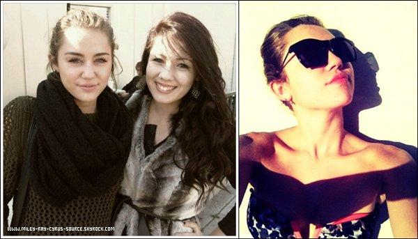 21.02.2012 : Miley est allée déjeuner à Sherman Oaks, en Californie.