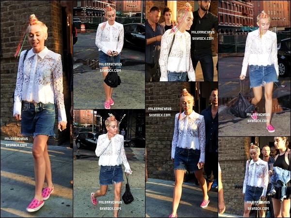 03/08/2014 : Miley se promenant dans les rues de New York, près de son hôtel.