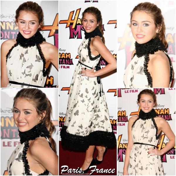 ~ FLASH BACK ~ Il y a 8 ans, du 20 au 27 avril 2009, Miley faisait le tour des grandes villes d'Europe pour promouvoir son film Hannah Montana. Retour sur les tenues portées par notre jeune Miley lors de ces événements.