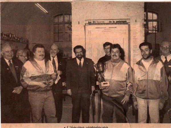 JM Vanbrussel,Claudy W et Lozano A vq des 24 h de Mons 1991