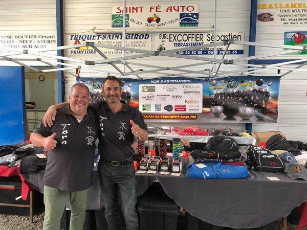 championnat départemental doublette haute Savoie avec Frédéric d'Acosta.2018