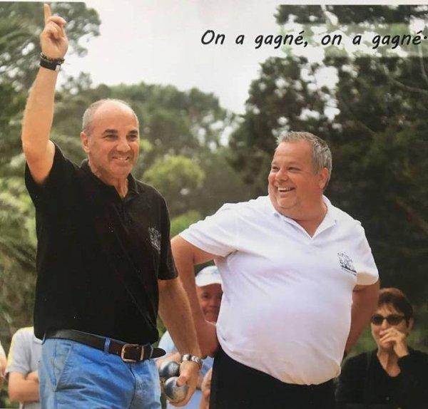 CHIAPPA 2018 LES VAINQUEURS DU CARROUSEL CLAUDY ET ALBERT DIDONA CONTRE LACROIX H ET ERIC BOSCHUNG 13-12