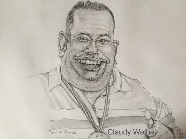 Claudy sa caricature.