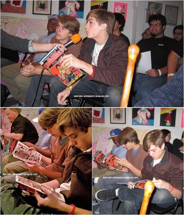 10/04 . Dylan and Cole à l'événement black dynamite