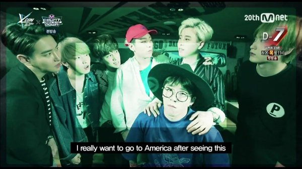 150813 Mnet M Countdown Feelz in LA TS Cuts