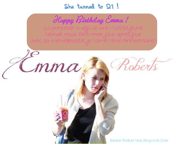 10 Février 2012[/align=center], Nous fêtons la naissance d'un être ; de Emma Roberts...♥