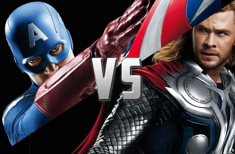 Battle : Captain America VS Thor