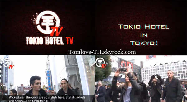 (6357): News: Traduction de TH TV  Tokio Hotel in Tokyo !