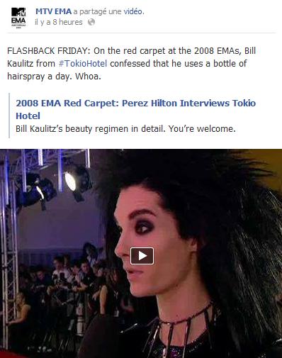 » Facebook - MTV EMA