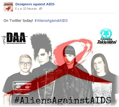 » Facebook - Designers against AIDS