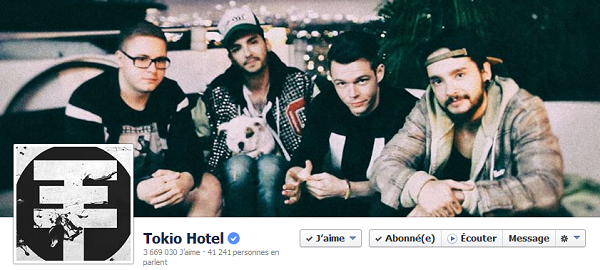 » Facebook - Tokio Hotel : Nouvelle photo de couverture