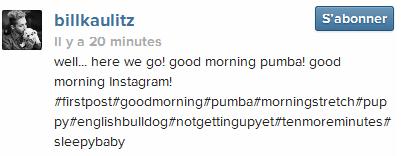 » Instagram - billkaulitz
