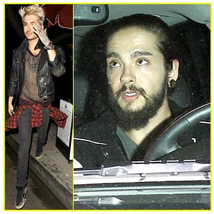 » Bill et Tom Kaulitz de Tokio Hotel font une rare apparition en publique.