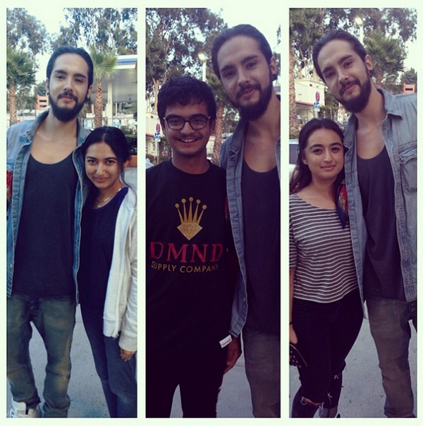 » 19.07.2014 - Tom avec des fans, Studio City (USA) / Source : Instagram - sarahschafieh