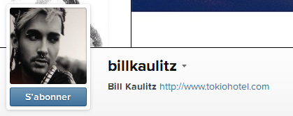 » Instagram - billkaulitz : Nouvelle photo de profil