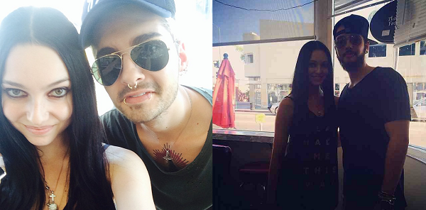 » 26.08.2014  - Bill et Tom avec Alicia Vigil à Los Angeles (USA) / Source : Instagram - aliciavigil