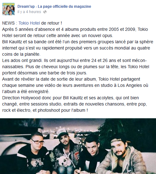 » Facebook : Dream'up - La page officielle du magazine