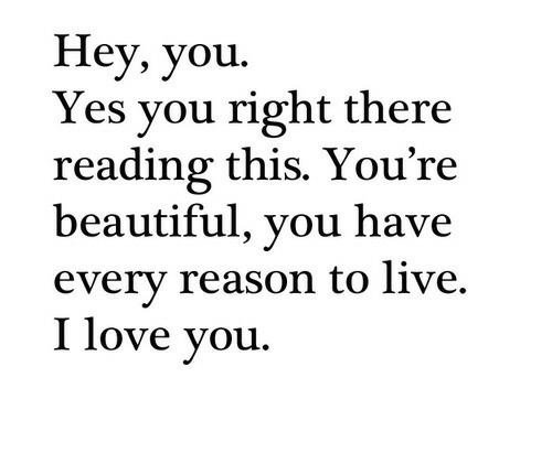Hey, you ... :)