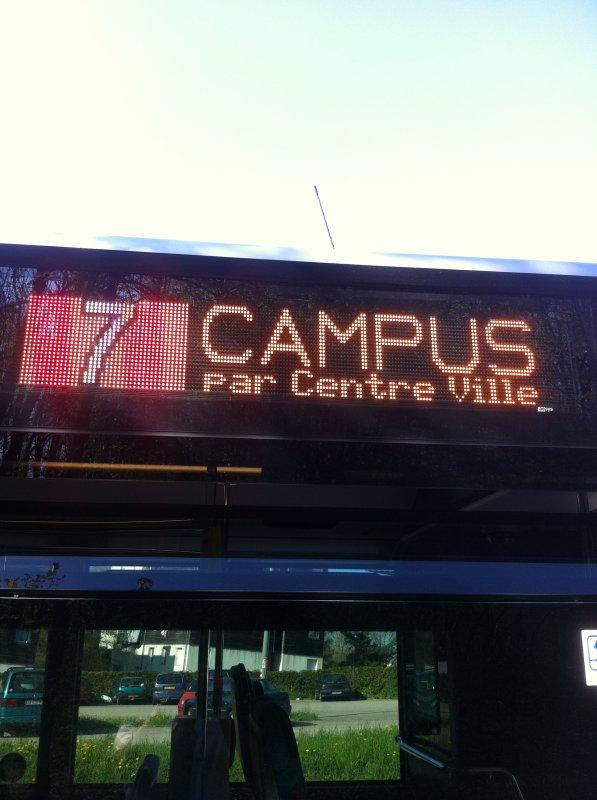 Suite des girouettes LED sur le bus mercédes citaro g2 numéro 545.