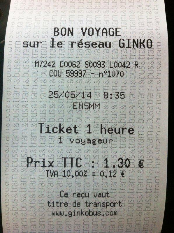 Les nouveaux tickets 1 heure, déjà validé.