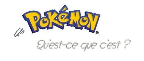 Préambule : Pokémon - la base