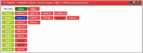 13/05/2014  22H30  FEU DE MAISON AVEC VICTIME POTENTIELS 51800 La NEUVILLE-AU-PONT