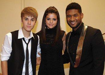 Justin et son equipe avec Selena a ATL