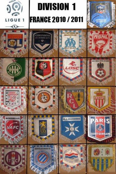 Les équipes de Ligue 1