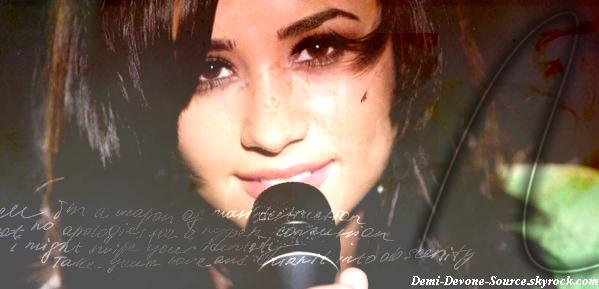 .Bienvenue  Sur Votre Nouvelle Source Sur La Belle Demi Lovato :) .