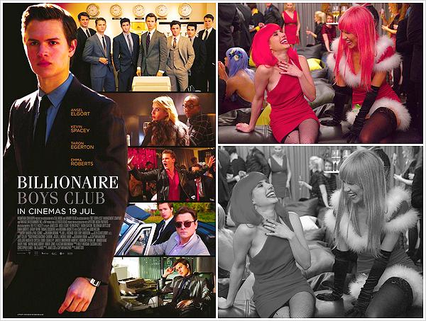 ''MOVIES'' ─ Découvrez enfin le premier poster  et stills du prochain film de Suki qui sort cet été,  «Billionaire Boys Club».Le film sort le 19 juillet, espérons avoir un peu de promo avant !  Malheureusement Suki n'est pas sur le poster, elle ne doit pas avoir un gros rôle !