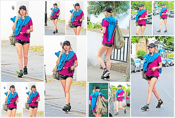 ''29/07/2018'' ─ La mannequin Suki Waterhouse  a été photographié arrivant à son domicile dans  la ville de Londres, UK.Encore une fois des photos de mauvaise qualité mais ça fait plaisir d'avoir des nouvelles de Suki, toujours avec son style bien à elle ! Vous aimez ?