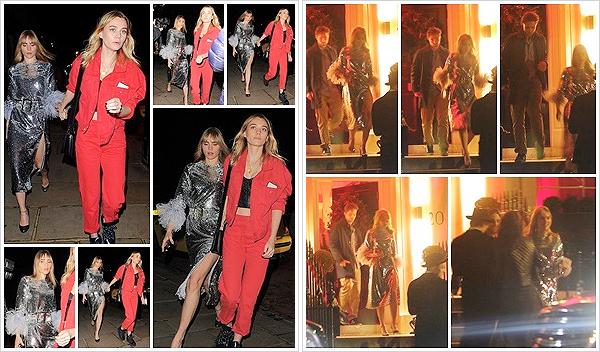 """""""2018""""' • 07 décembre ─ Suki  arrivant à la « Evgeny Lebedev's annual Christmas party»  avec  Immy -  à Londres. Nous n'avons aucune photos de la fête mais en tout cas, elle en est ressortie, cette fois ci avec son copain, l'acteur Robert Pattinson.  Vos avis ?"""