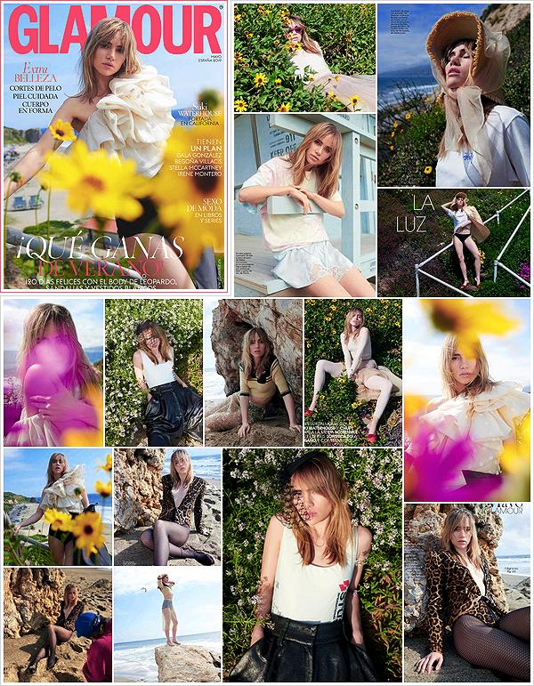 """'""""SHOOT""""""""' •  La belle mannequin britannique  est en couverture du célèbre magazine  «Glamour» Espagne de mai 2019.  Le shoot a été réalisé par le photographe Tim Barber dont le tournage a eu lieu à la fin du mois dernier. (article). Joli résultat, j'aime ! Vos avis ?"""