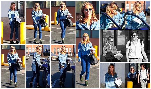 """""""2019""""' • 17 Avril ─ La belle anglaise a été vue quittant un «DMV» - Bureau des permis de conduire  - situé à Los Angeles.  Je pensais que Suki avait le permis et en même temps je ne l'ai jamais vu au volant donc ! En tout cas, superbe top, ça faisait longtemps ! Vos avis ?"""