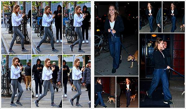 """""""2019""""' • 03 Mai ─ L'actrice a été vue après une séance de sport puis plus tard promenant son chien, Chili à Manhattan. Suki s'active à New-York, on ne sait pas combien de temps elle y restera mais ça fait plaisir de la voir avec son nouveau chien,mignon. Vos avis ?"""