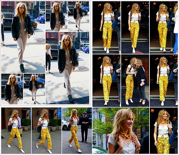 """""""2019""""' • 05 Mai ─ Suki a été vue à deux reprises dans la journée, arrivant et quittant son hôtel «The Bowery»  à NYC. Le mannequin était avec sa BFF, Poppy Jamie pour surement organiser des shoots pour la campagne de leur marque «Pop&Suki» - Vos avis ?"""