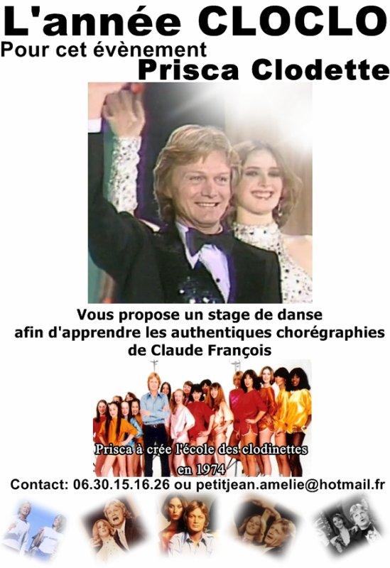 Stage avec PRISCA pour apprendre les chorégraphies authentique de Claude François