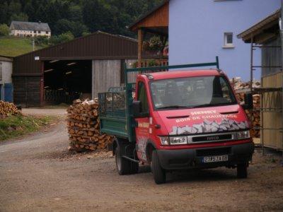 ma camionette pour livrer le bois