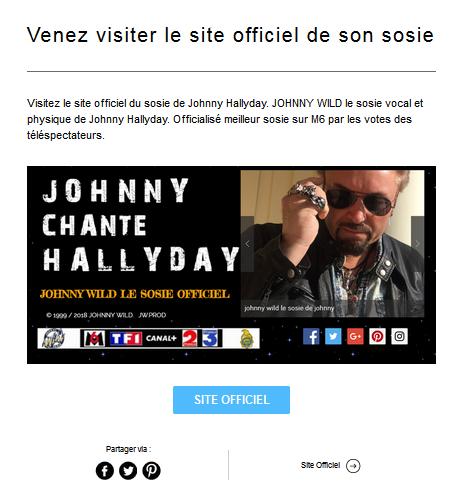 le sosie de johnny hallyday - Johnny wild