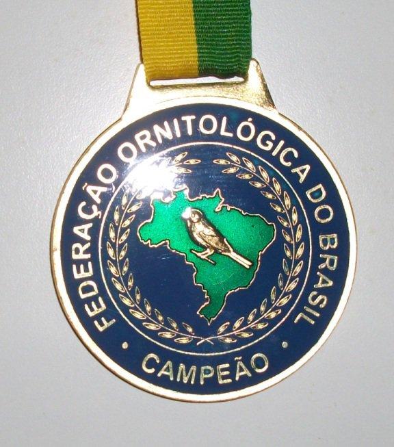 Medalha do Ágata Pastel Amarelo Nevado