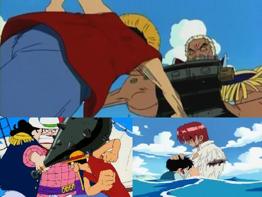 Arc 1: Romance Dawn (Luffy,Cobby,Alvidia,Shank,Roronoa,Morgan)
