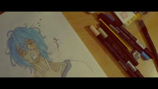 Murasakibara avec des cheveux bleu... Aokibara?