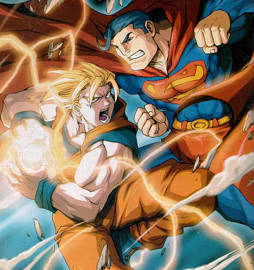 Goku & Super man x) Lol